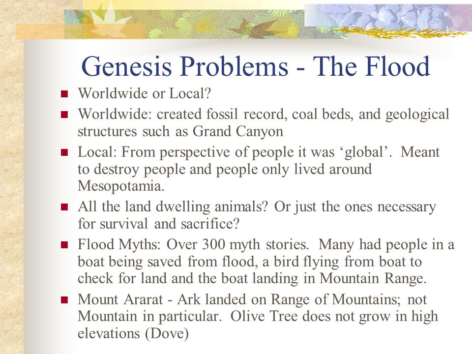 Genesis Problems - The Flood