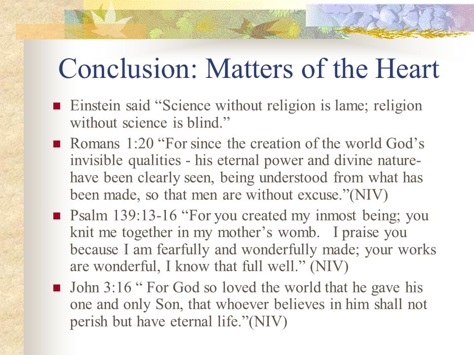 Conclusion: Matters of the Heart
