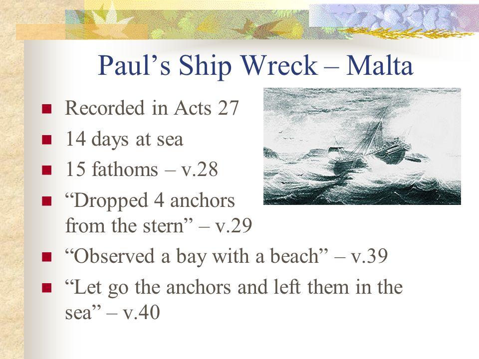 Paul's Ship Wreck – Malta