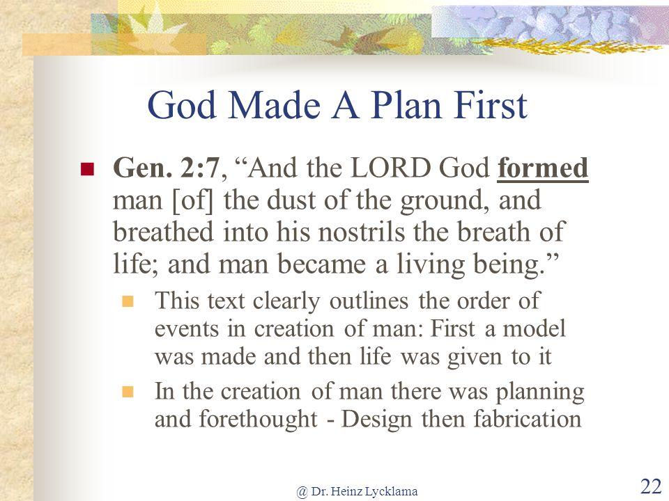 God Made A Plan First