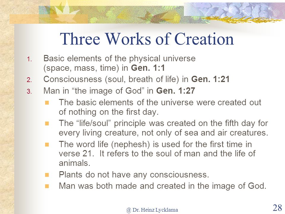 Three Works of Creation