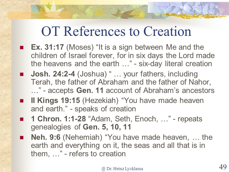 OT References to Creation