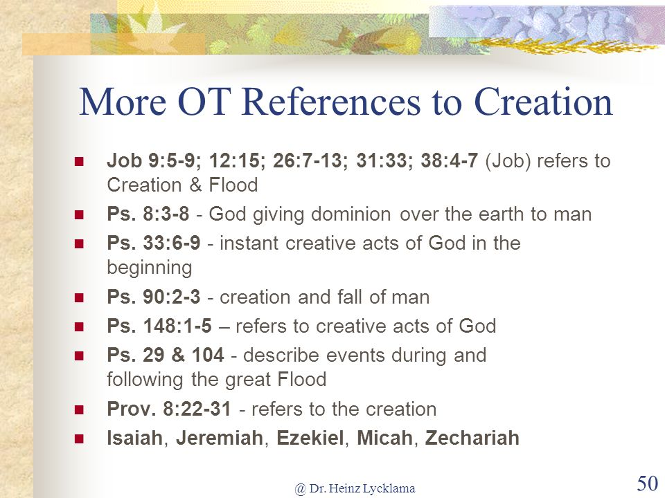 More OT References to Creation