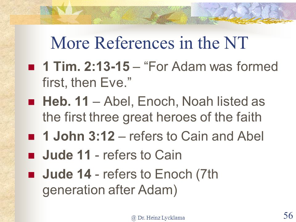 More References in the NT