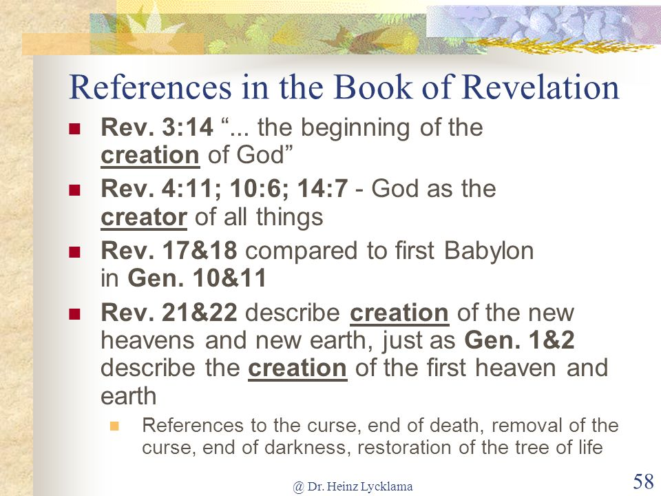 References in the Book of Revelation