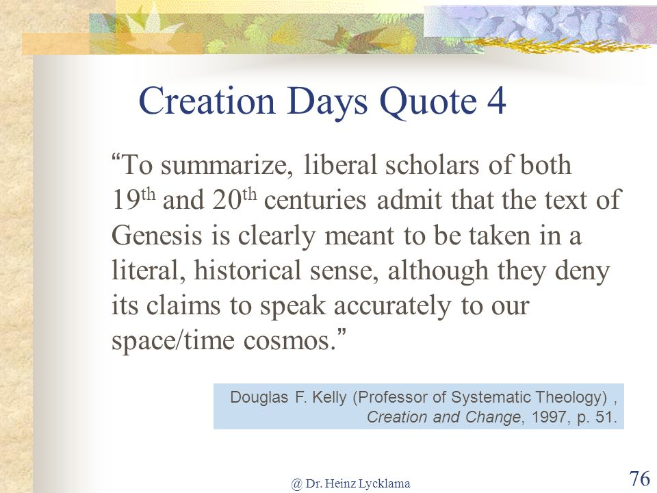 Creation Days Quote 4