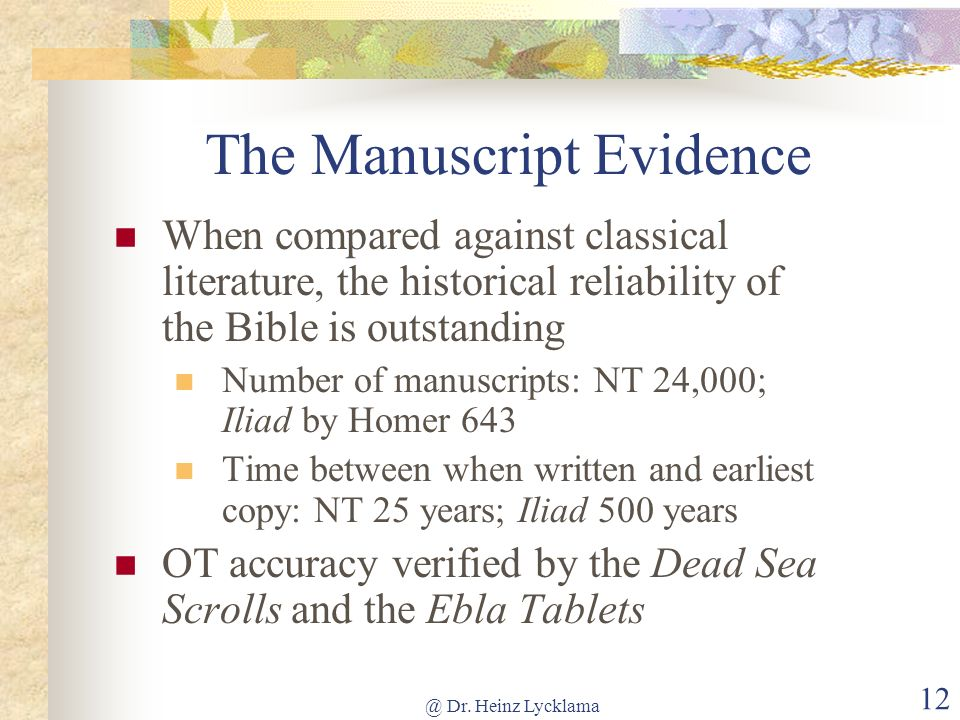 The Manuscript Evidence