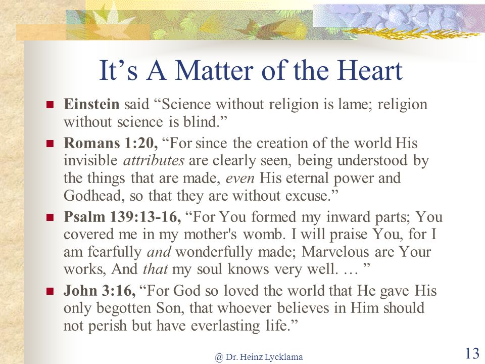 It's A Matter of the Heart