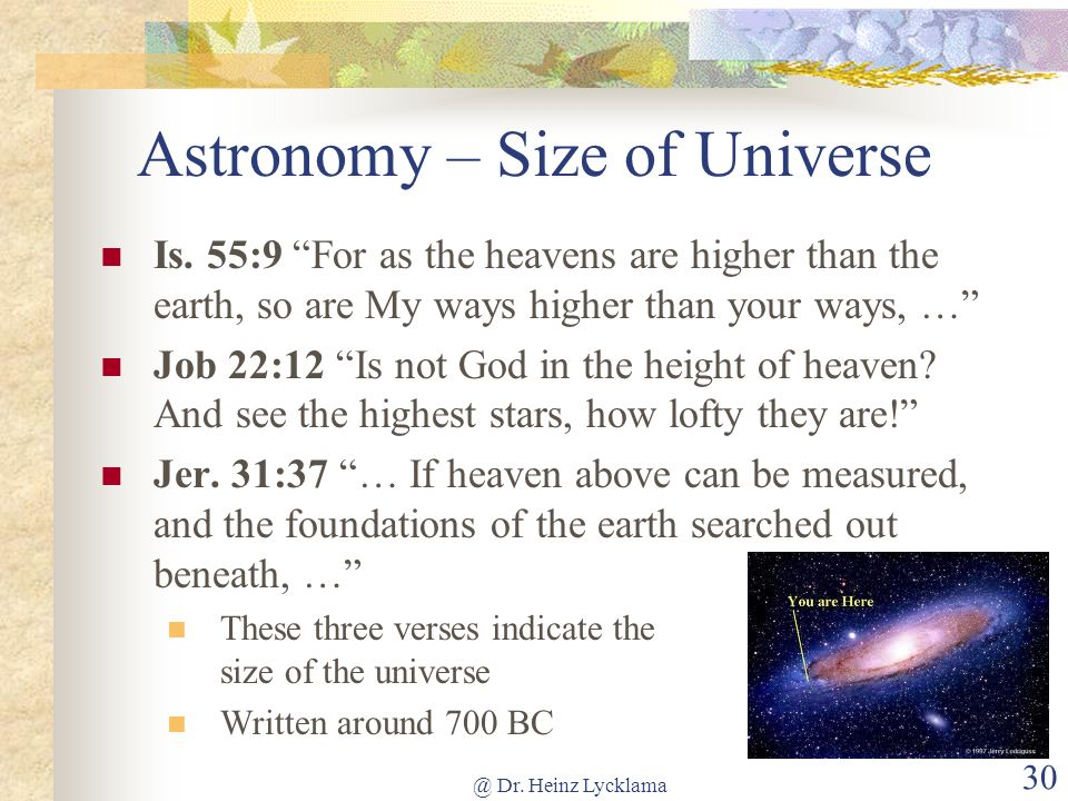 Astronomy – Size of Universe