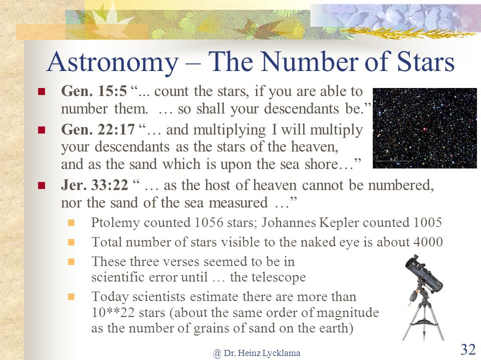 Astronomy – The Number of Stars