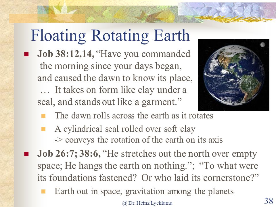 Floating Rotating Earth
