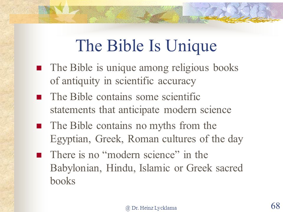 Is The Bible Reliable Scientifically