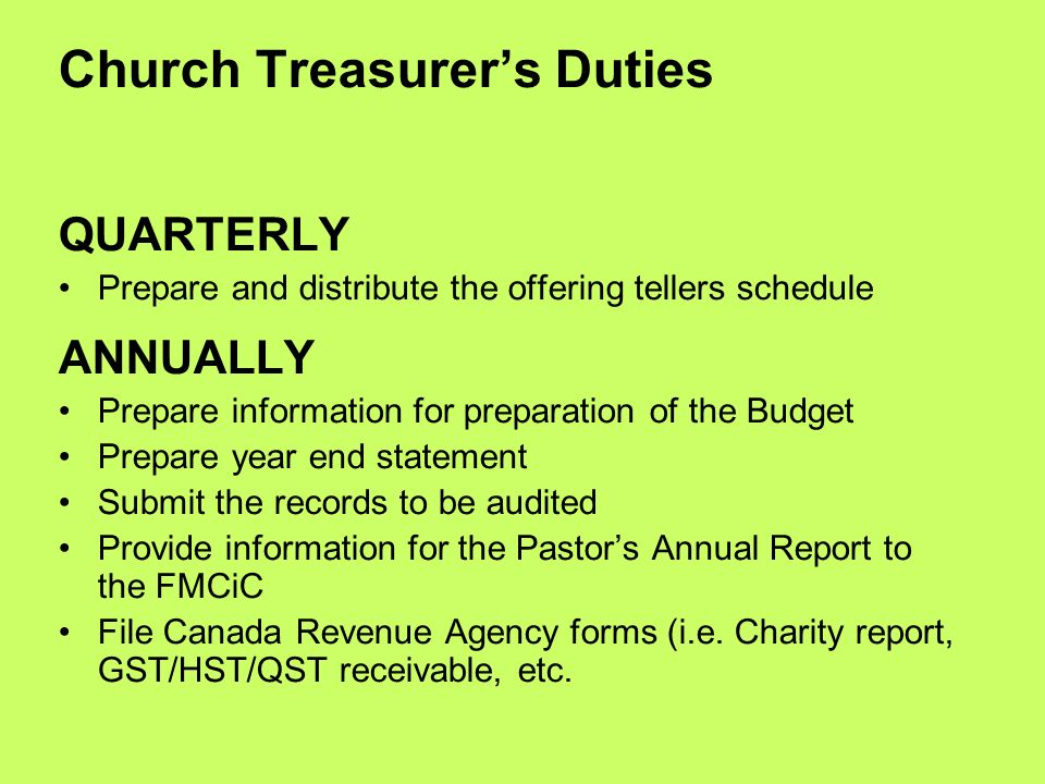 video cell phones in church ppt download 10 treasurer job description