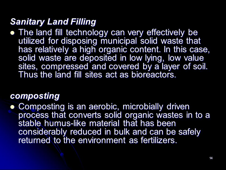 Sanitary Land Filling