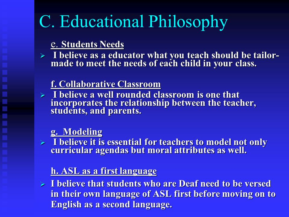 C. Educational Philosophy