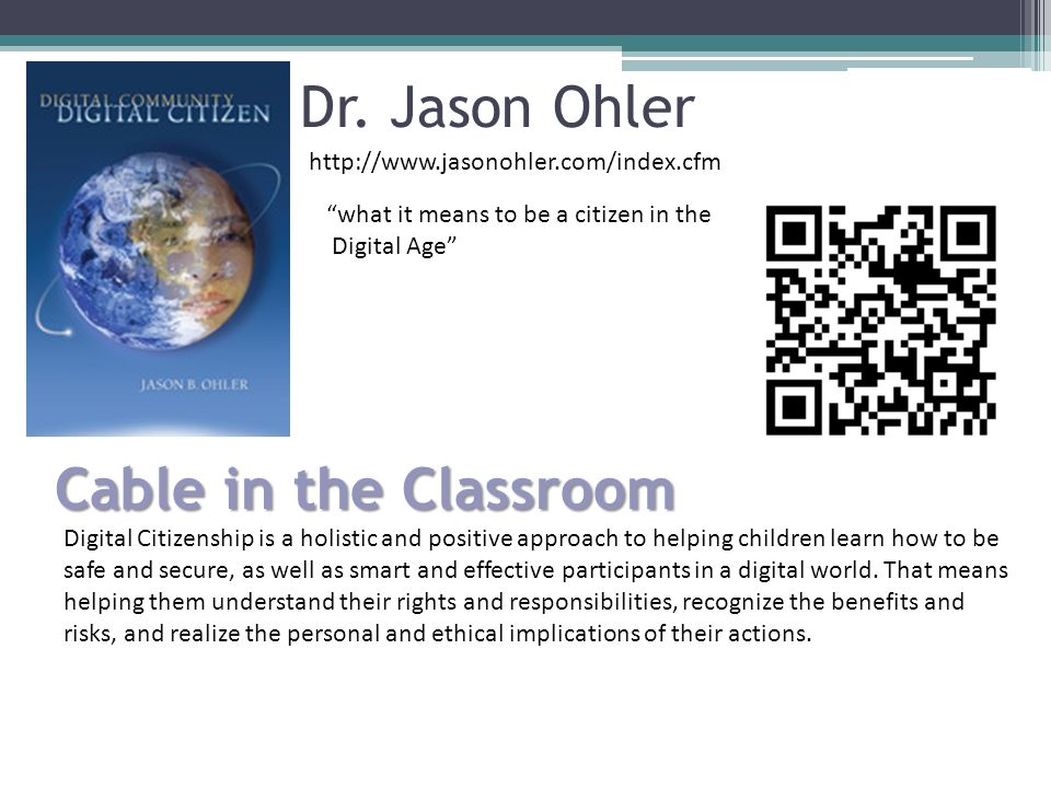 Dr. Jason Ohler Cable in the Classroom
