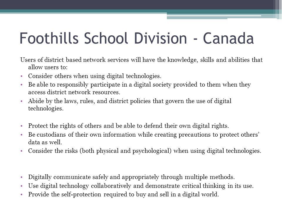 Foothills School Division - Canada