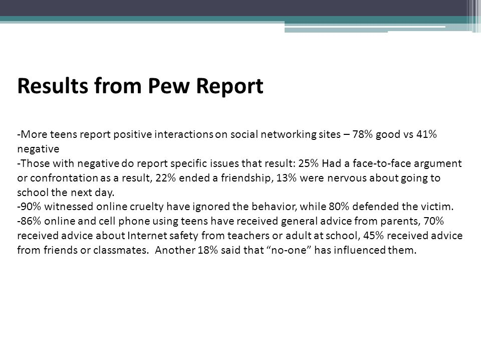 Results from Pew Report