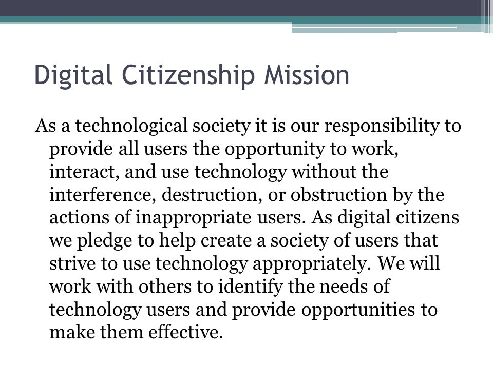 Digital Citizenship Mission