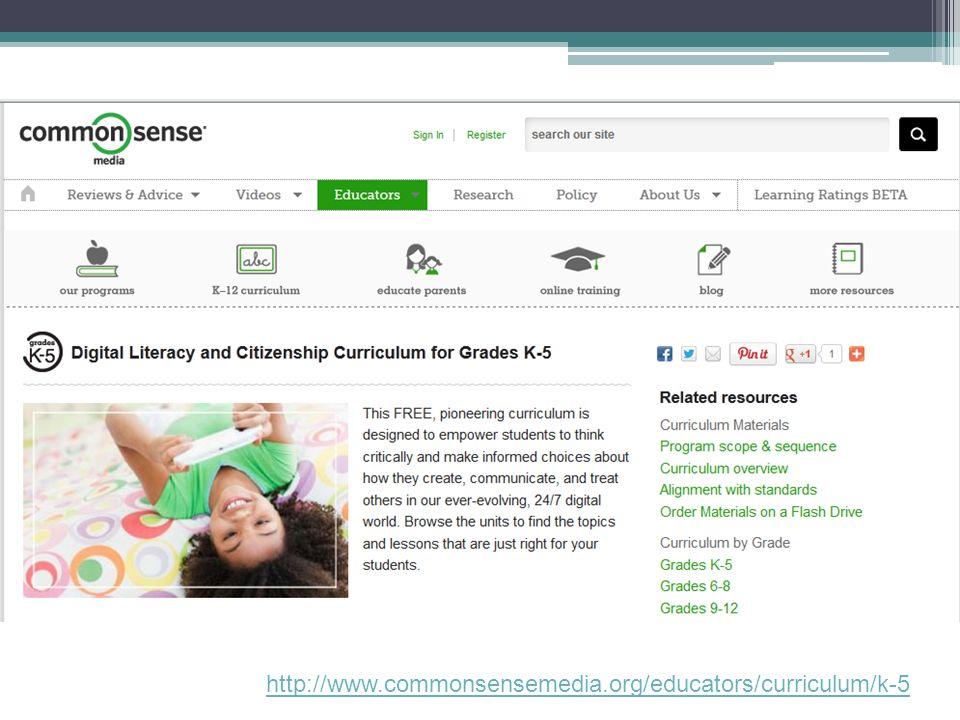 http://www.commonsensemedia.org/educators/curriculum/k-5