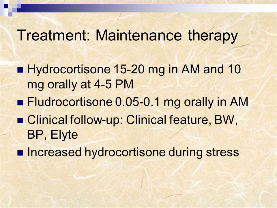 Treatment: Maintenance therapy