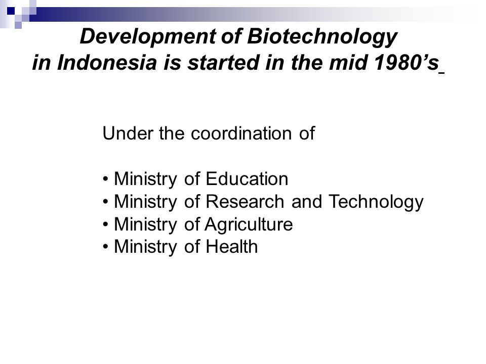 Development of Biotechnology