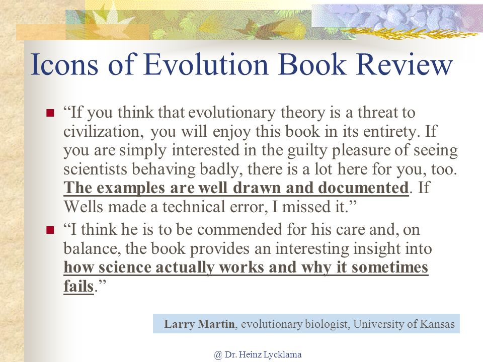 Icons of Evolution Book Review