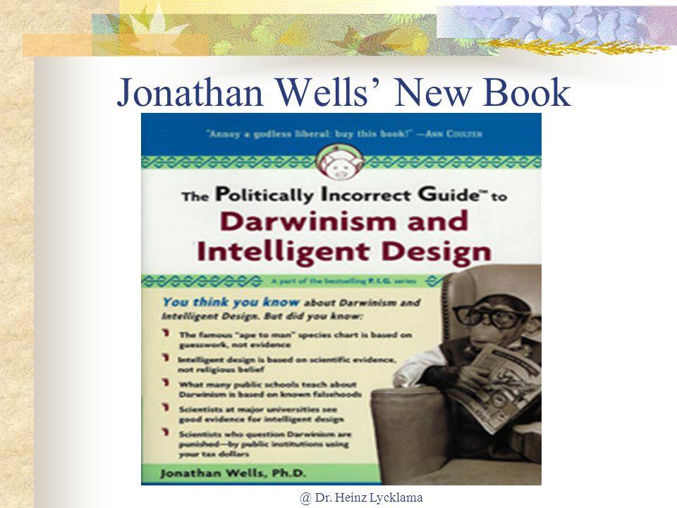 Jonathan Wells' New Book