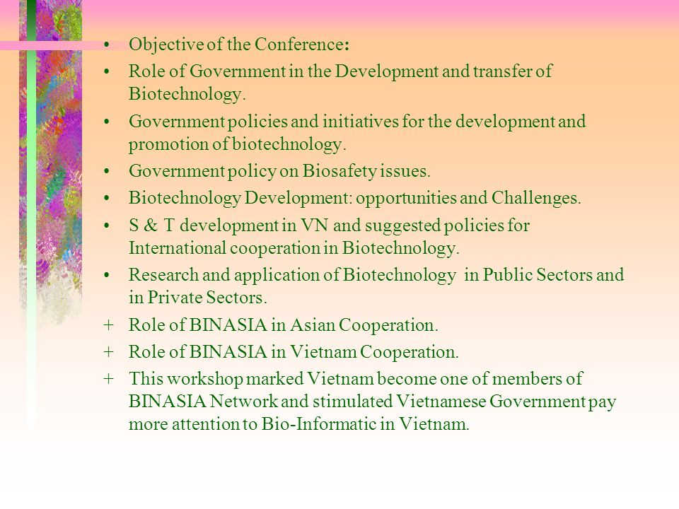 Objective of the Conference: