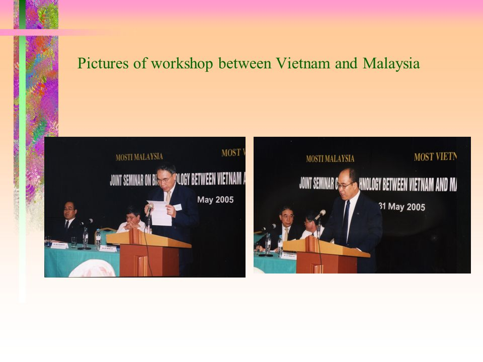 Pictures of workshop between Vietnam and Malaysia