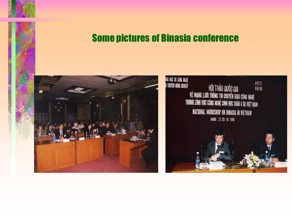 Some pictures of Binasia conference