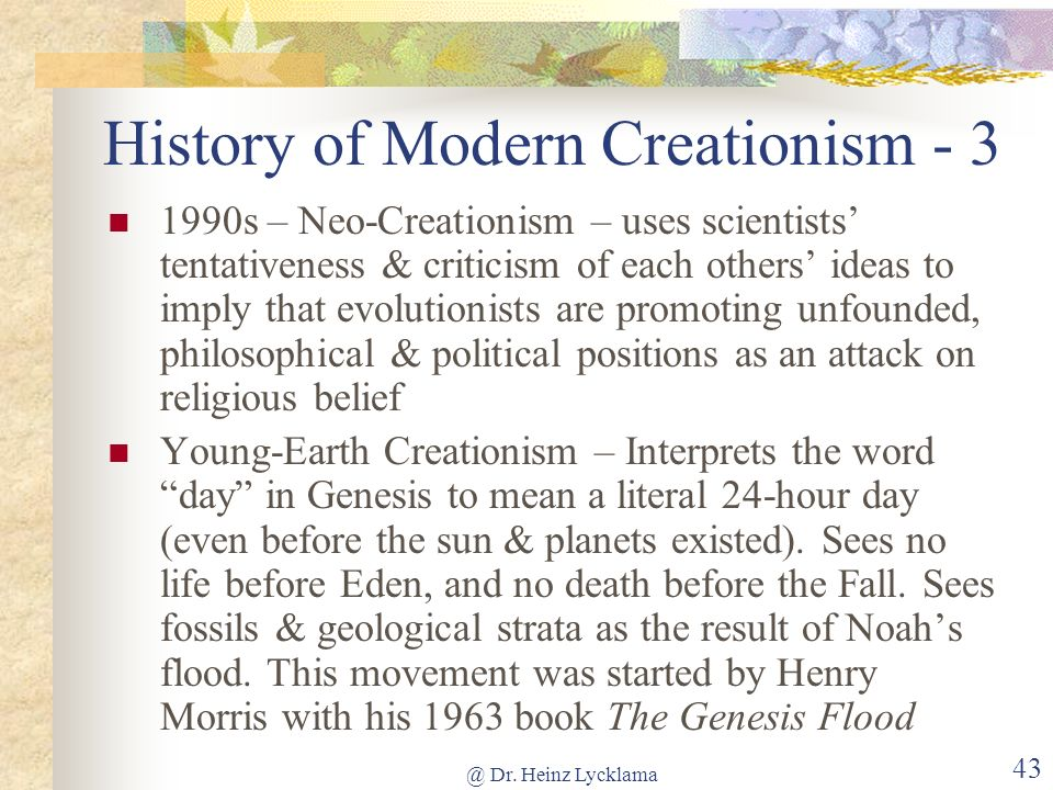 History of Modern Creationism - 3