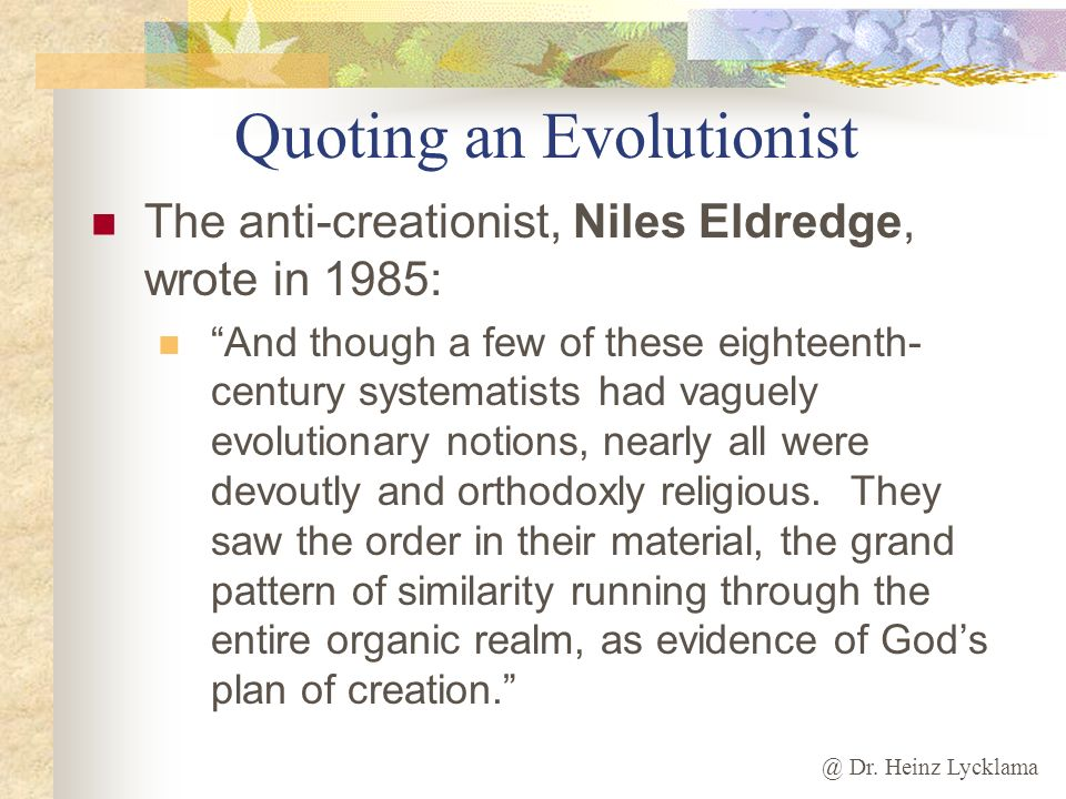Quoting an Evolutionist