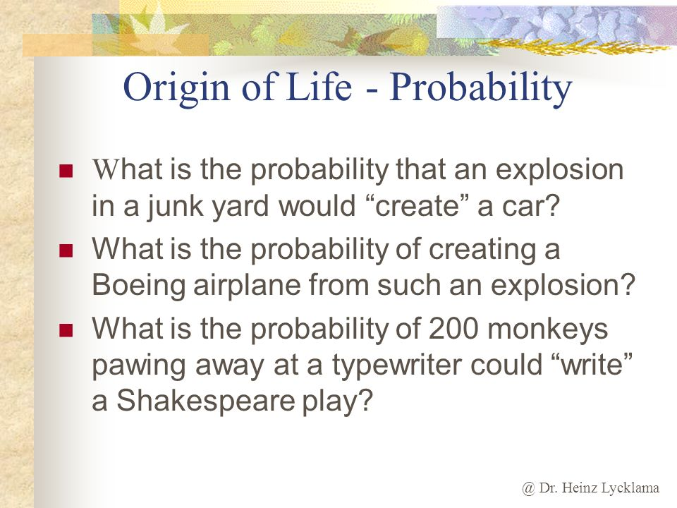 Origin of Life - Probability