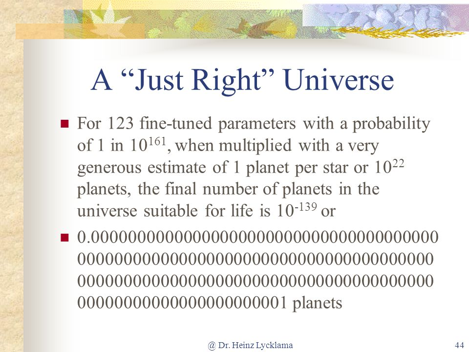 A Just Right Universe