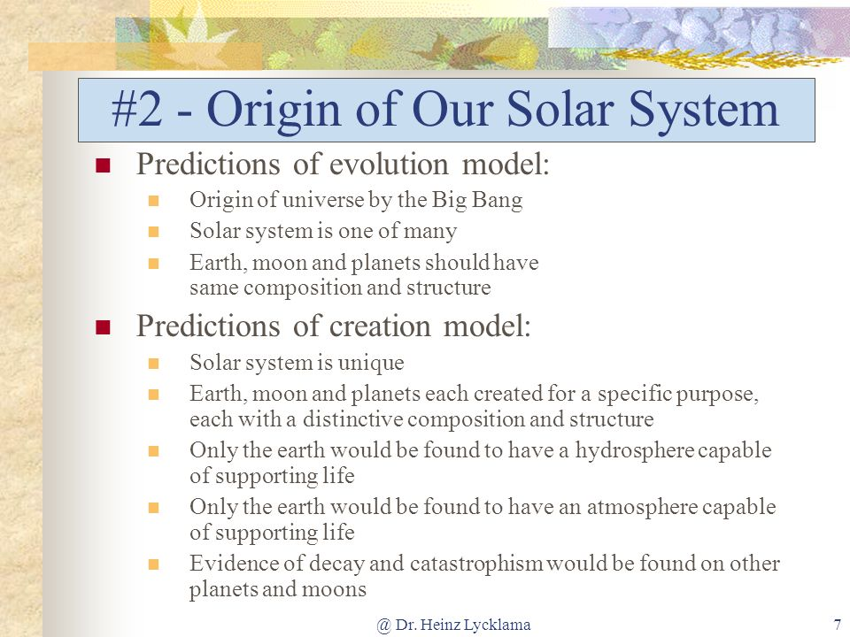 #2 - Origin of Our Solar System