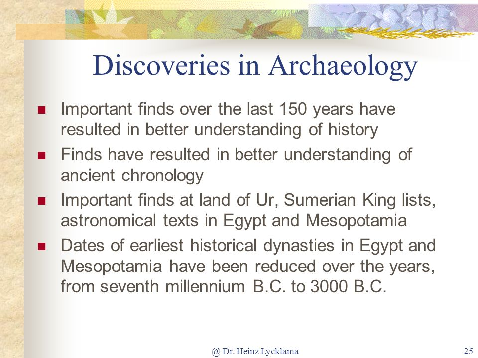 Discoveries in Archaeology