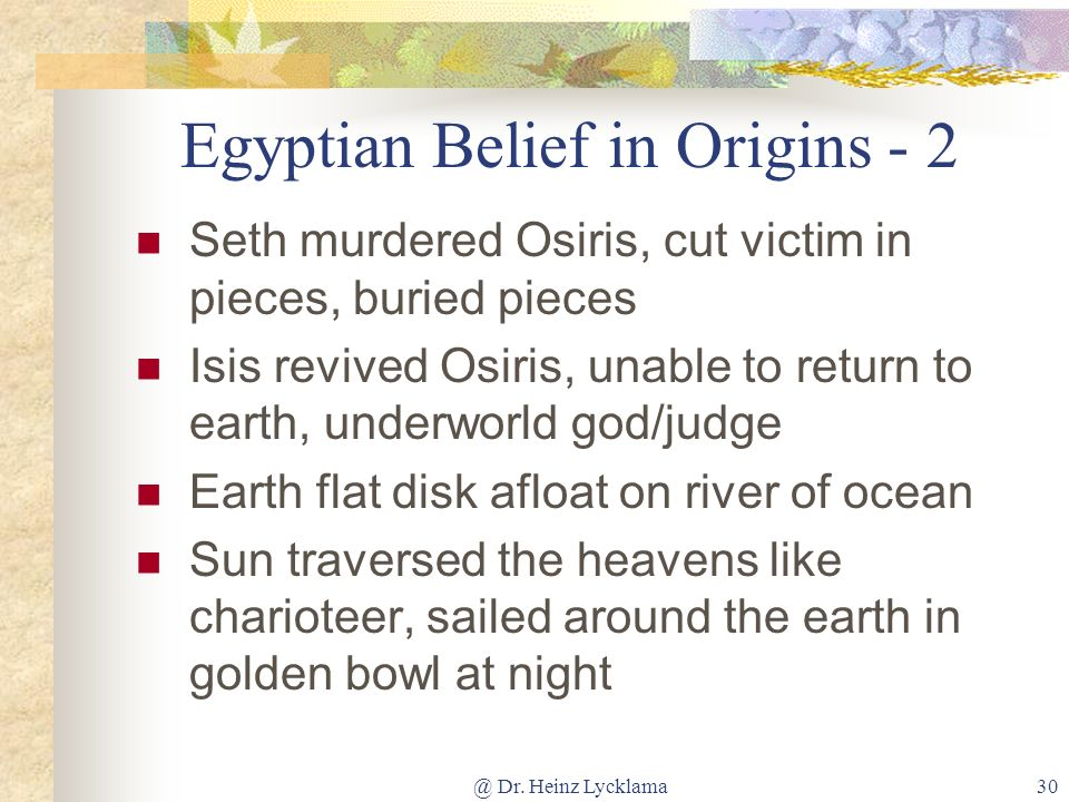 Egyptian Belief in Origins - 2