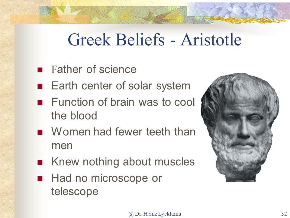 Greek Beliefs - Aristotle