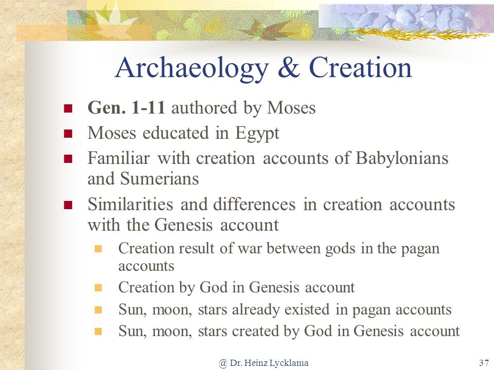 Archaeology & Creation
