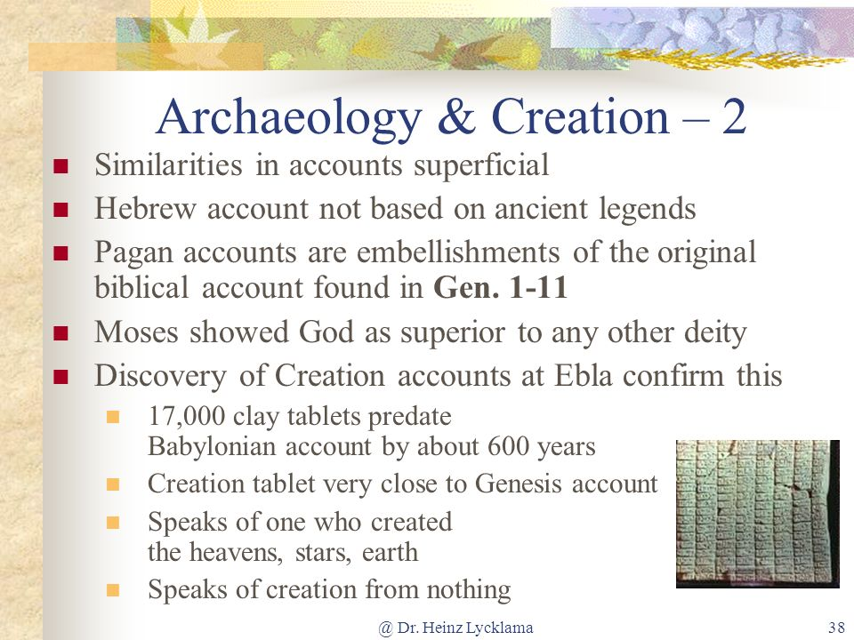 Archaeology & Creation – 2