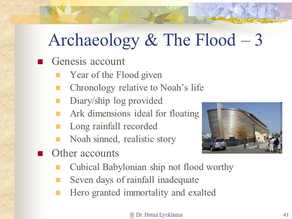 Archaeology & The Flood – 3