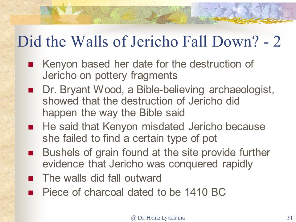Did the Walls of Jericho Fall Down - 2