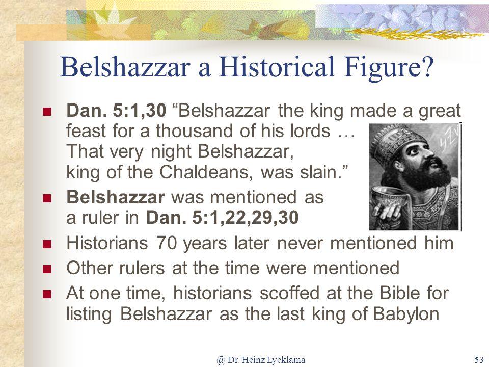 Belshazzar a Historical Figure