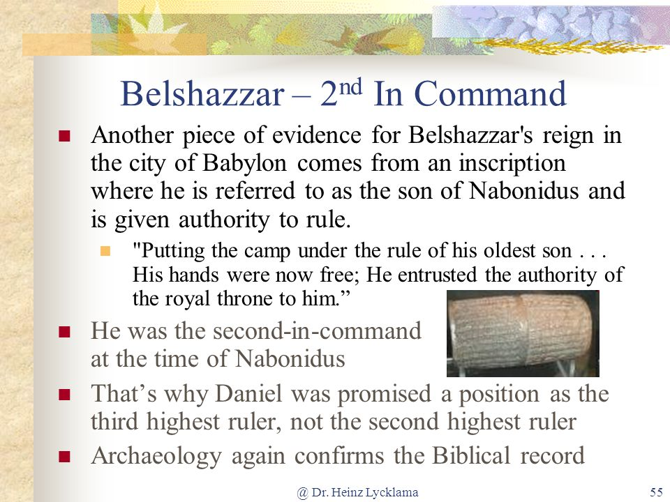 Belshazzar – 2nd In Command