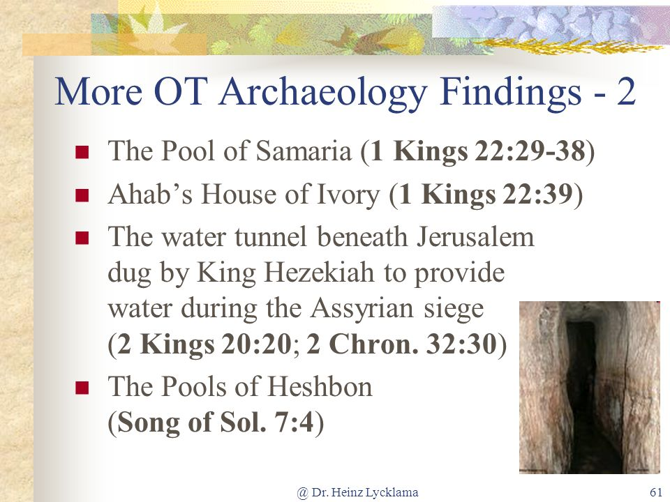 More OT Archaeology Findings - 2