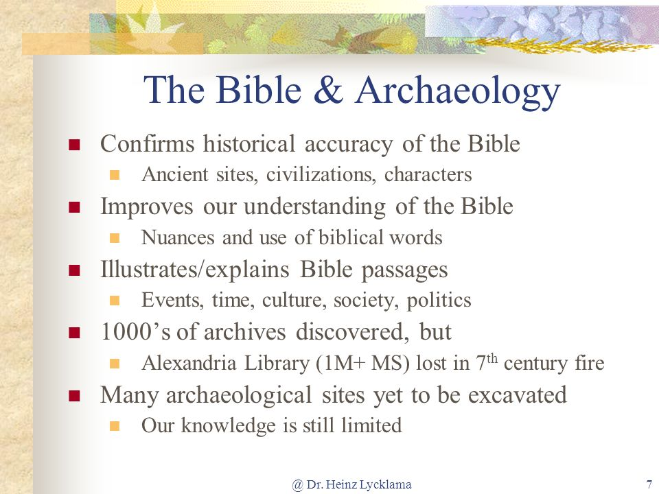 The Bible & Archaeology
