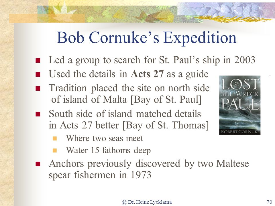 Bob Cornuke's Expedition
