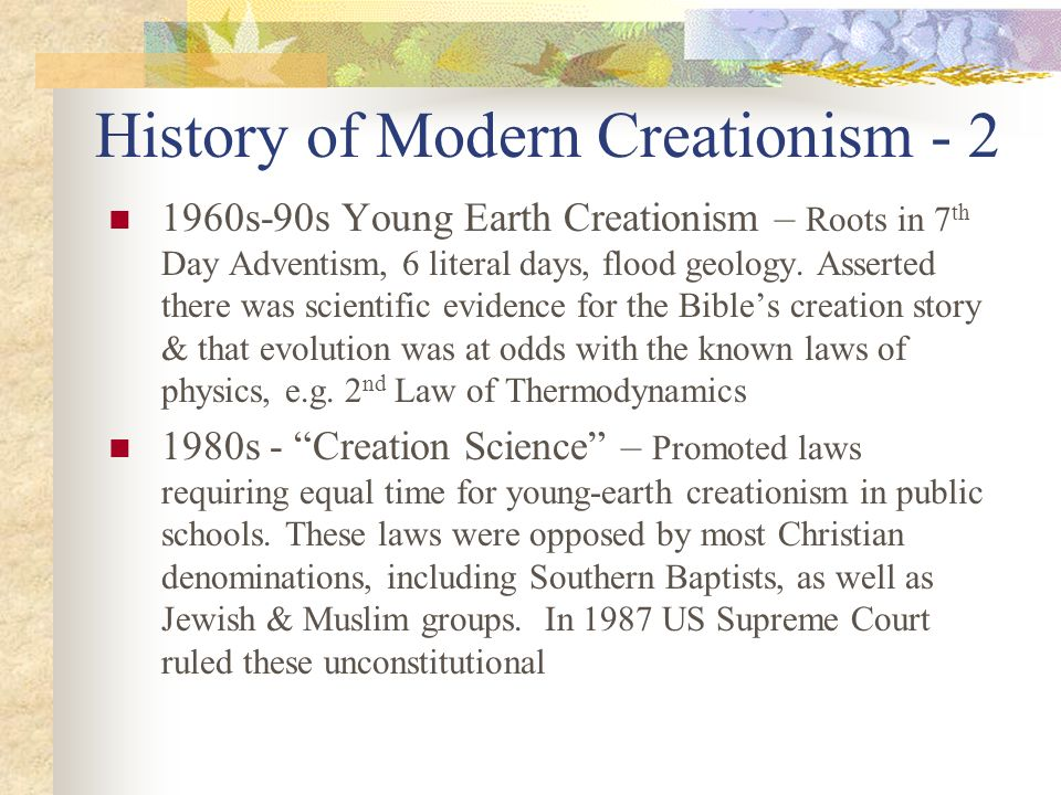 History of Modern Creationism - 2