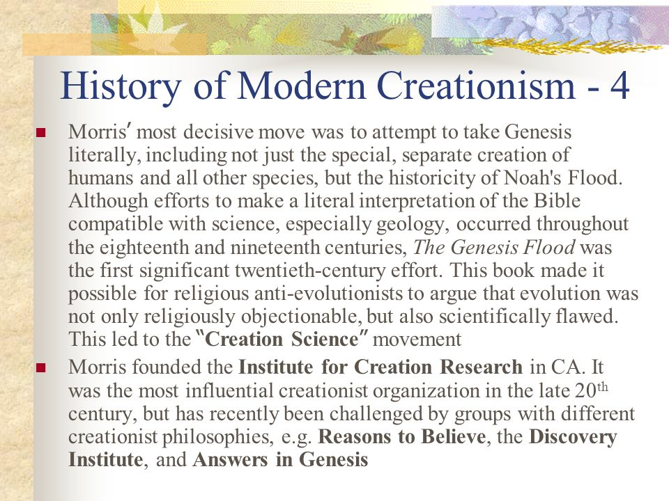 History of Modern Creationism - 4
